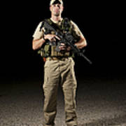 A U.s. Police Officer Contractor Poster