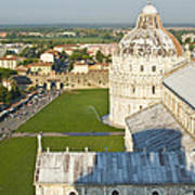 A View From The Bell Tower Of Pisa  Poster