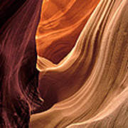 A View In A Slot Canyon Poster