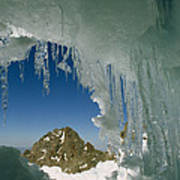A View Of A Mountain Summit Poster
