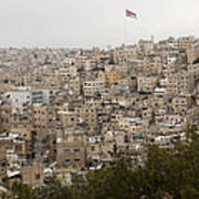 A View Of Amman, Jordan Poster by Taylor S. Kennedy