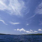 A View Of Lake Superior And Sky At Isle Poster