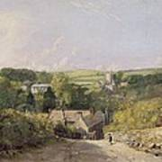 A View Of Osmington Village With The Church And Vicarage Poster
