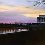 A View Of The Lincoln Memorial Poster