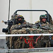 A Vw Iltis Recce Jeep On Guard Poster