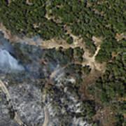 A Wildfire Burns Land Near Austin Poster