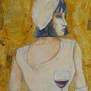 A Wine Tasting Evening Poster by MaryAnn Ceballos