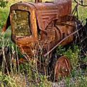 Abandonded Farm Tractor 1 Poster