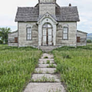Abandoned Countryside Church Poster