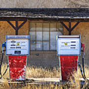 Abandoned Gas Pumps And Station Poster