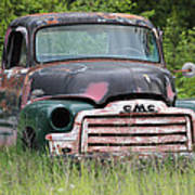 Abandoned Gmc Truck Poster
