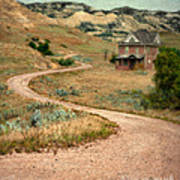 Abandoned House On Dirt Road Poster
