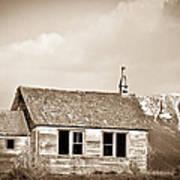 Abandoned Montana Shcoolhouse Poster