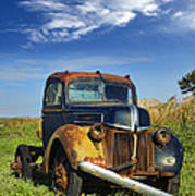 Abandoned Rusty Truck Poster