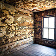 Abandoned Smoky Mountains Farm House - The Window Poster