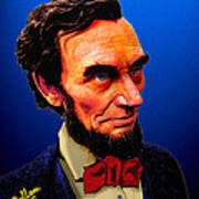 Abe Lincoln Blue Poster