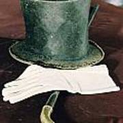 Aberaham Lincolns Hat, Cane And Gloves Poster