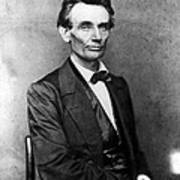 Abraham Lincoln 1860portrait By B Poster by Everett