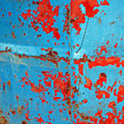 Abstrac Texture Of The Paint Peeling Iron Drum Poster