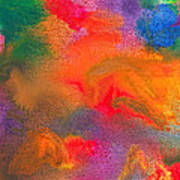 Abstract - Crayon - Melody Poster