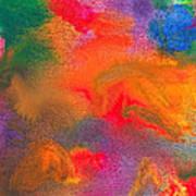 Abstract - Crayon - Melody Poster by Mike Savad