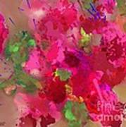 Abstract Bougainvillea Painting Floral Wall Art Poster