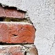 Abstract Brick Wall II Poster