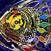 Abstract Busy Bee Fish Poster
