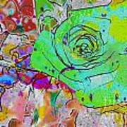 Abstract Childlike Rose Poster