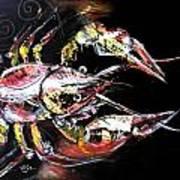 Abstract Crawfish Poster