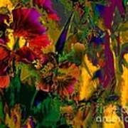 Abstract Flowers Poster by Doris Wood