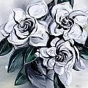 Abstract Gardenias Poster