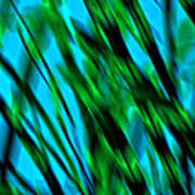 Abstract Green Grass Poster