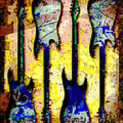Abstract Guitars Poster