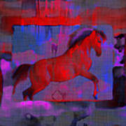 Abstract Horse Poster