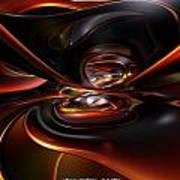 Abstract Lava Flow Fx  Poster