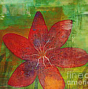Abstract Lilly  Poster