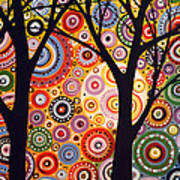 Abstract Modern Tree Landscape Distant Worlds By Amy Giacomelli Poster