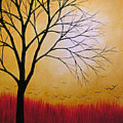 Abstract Original Tree Painting Summers Anticipation By Amy Giacomelli Poster
