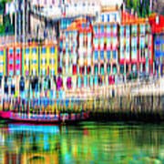 abstract Portuguese city Porto-1 Poster