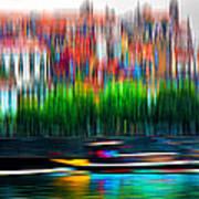 abstract Portuguese city Porto-2 Poster