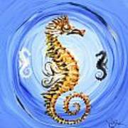 Abstract Sea Horse Poster
