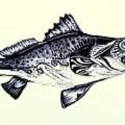 Abstract Speckled Trout Poster by J Vincent Scarpace