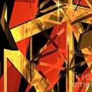 Abstract Tan 2 Poster