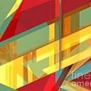 Abstract Tan 9 Poster