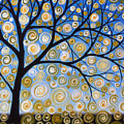 Abstract Tree Nature Original Painting Starry Starry By Amy Giacomelli Poster