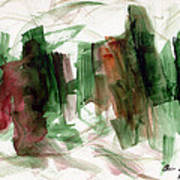Abstract Watercolor 51 Poster