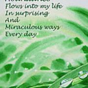 Abundance Affirmation Poster