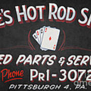Ace's Hot Rod Shop Poster by Clarence Holmes