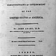 Adams: Title Page, 1787 Poster